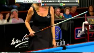 03/18/12 WPBA Masters - Final rack 1 Allison Fisher vs Ewa Mataya Laurance Billiard HD