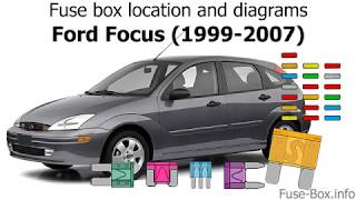 Fuse Box Location And Diagrams Ford Focus 1999 2007 Youtube