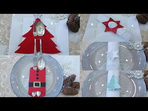 Diy: Spettacolari Idee Per Apparecchiare La Tavola Di Natale, Christmas Silverware Holder Idea