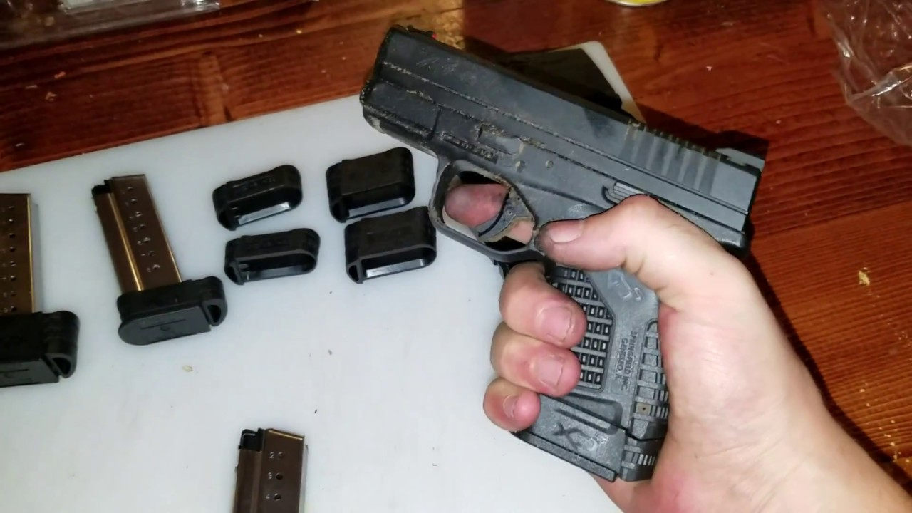 Springfield Xds 9mm Different Size Magazine Comparison Youtube