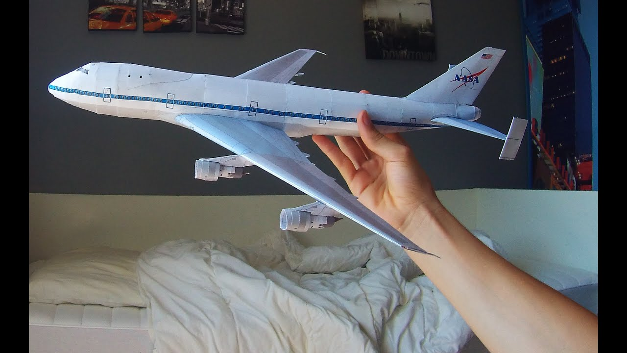 Papercraft Nasa Boeing 747 in full papercraft!