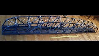 Scratch Built S Scale Bridge Project... 9 FEET LONG!!!