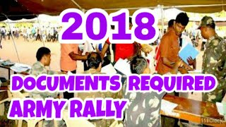 DOCUMENTS  REQUIRED  INDIAN ARMY OPEN BHARATI RALLY  2018....