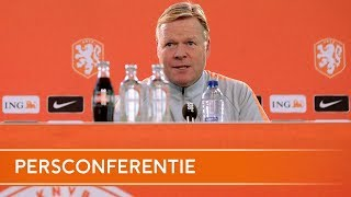 Nations league: Persconferentie Ronald Koeman