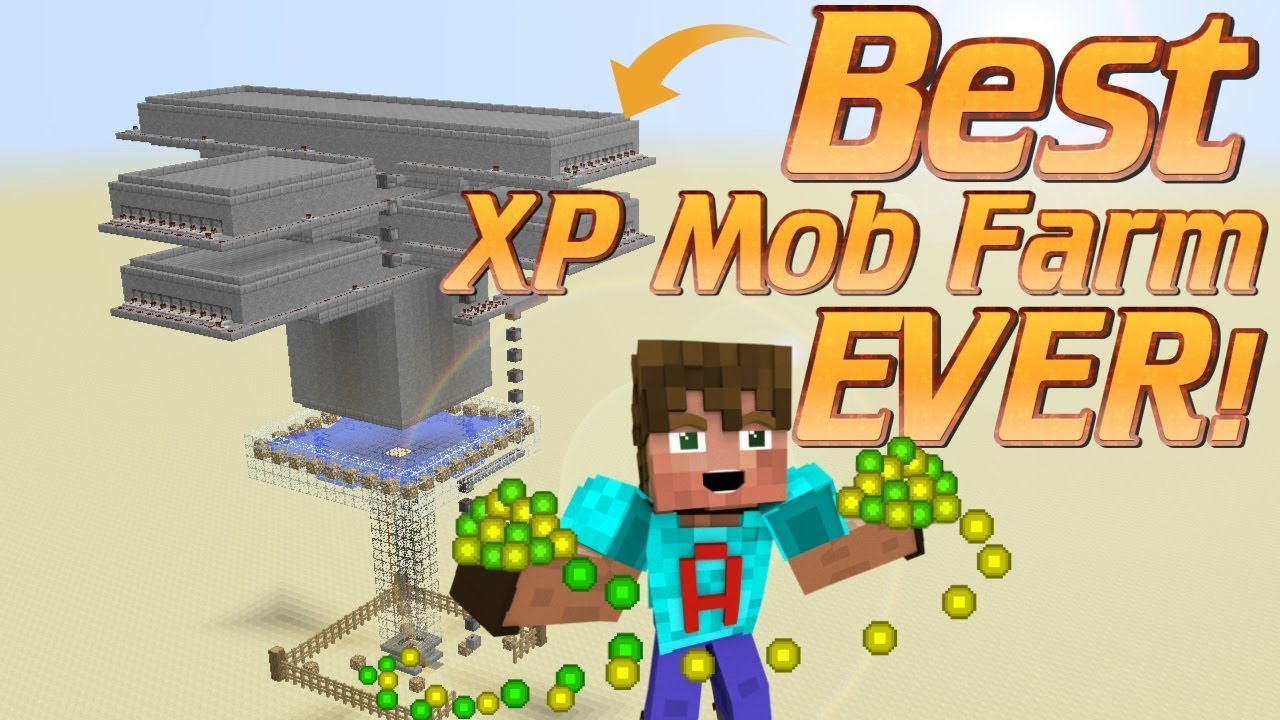 How to make an XP Farm in Minecraft  how to make a Mob Farm  Minecraft  Tutorial Minecraft Farm