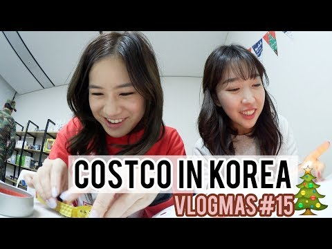 Going to COSTCO in KOREA for the FIRST TIME! | Christmas Party with Sunnydahye | Vlogmas #15