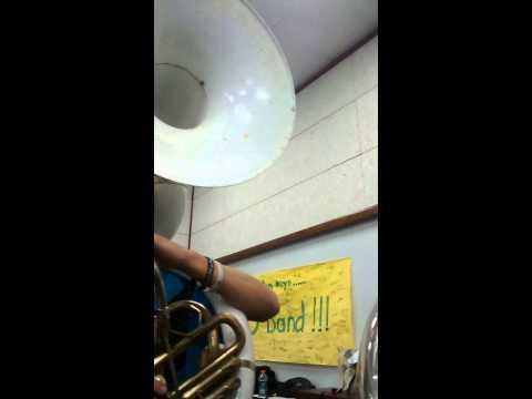 Kingfisher high school band practice
