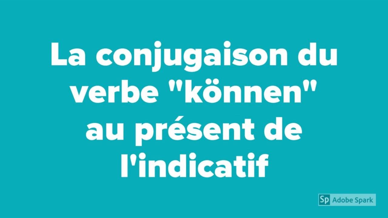 Conjuguer Le Verbe Konnen Au Present De L Indicatif En Allemand Youtube