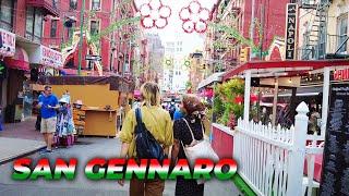 Walking Feast of Sąn Gennaro 2021 in Little Italy on Opening Day