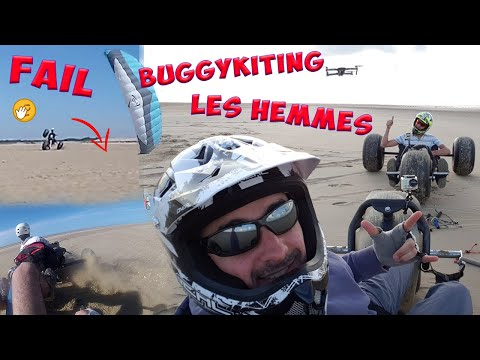 Powerkite buggy Les Hemmes- GoPro & drone Mavic Pro