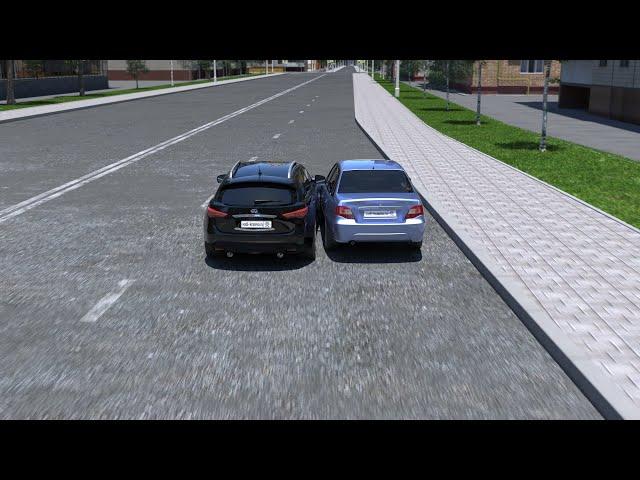 Разбор ДТП при сужении дороги