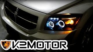 K2 MOTOR INSTALLATION VIDEO: 2006-2010 DODGE CALIBER PROJECTOR HEAD LIGHTS