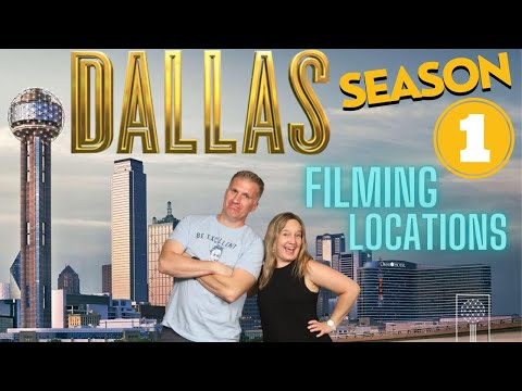 Dallas TV Show Filming Locations | Season 1 - The Miniseries (1978) Dallas, Texas THEN & NOW