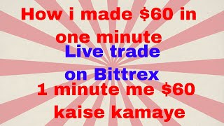 live $60 made within 1 minute on bittrex.com