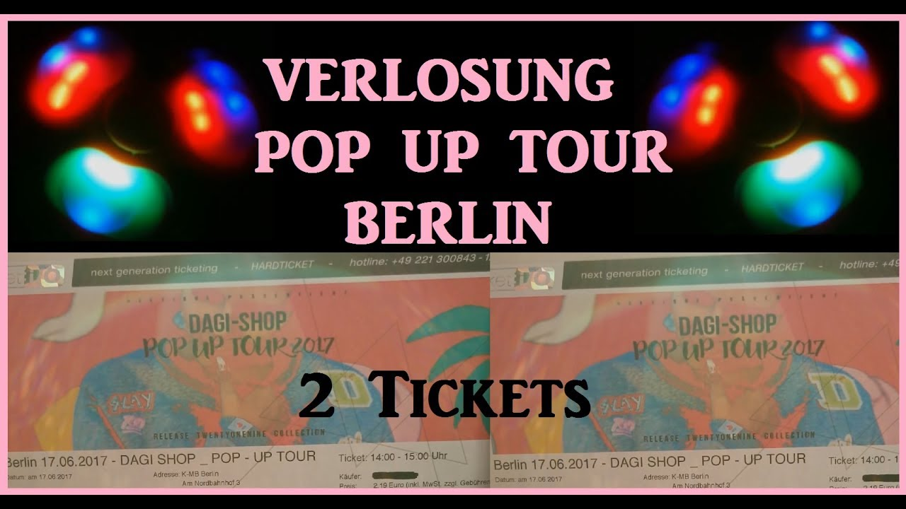 Verlosung Dagi Bee Shop Pop Up Tour Berlin Youtube