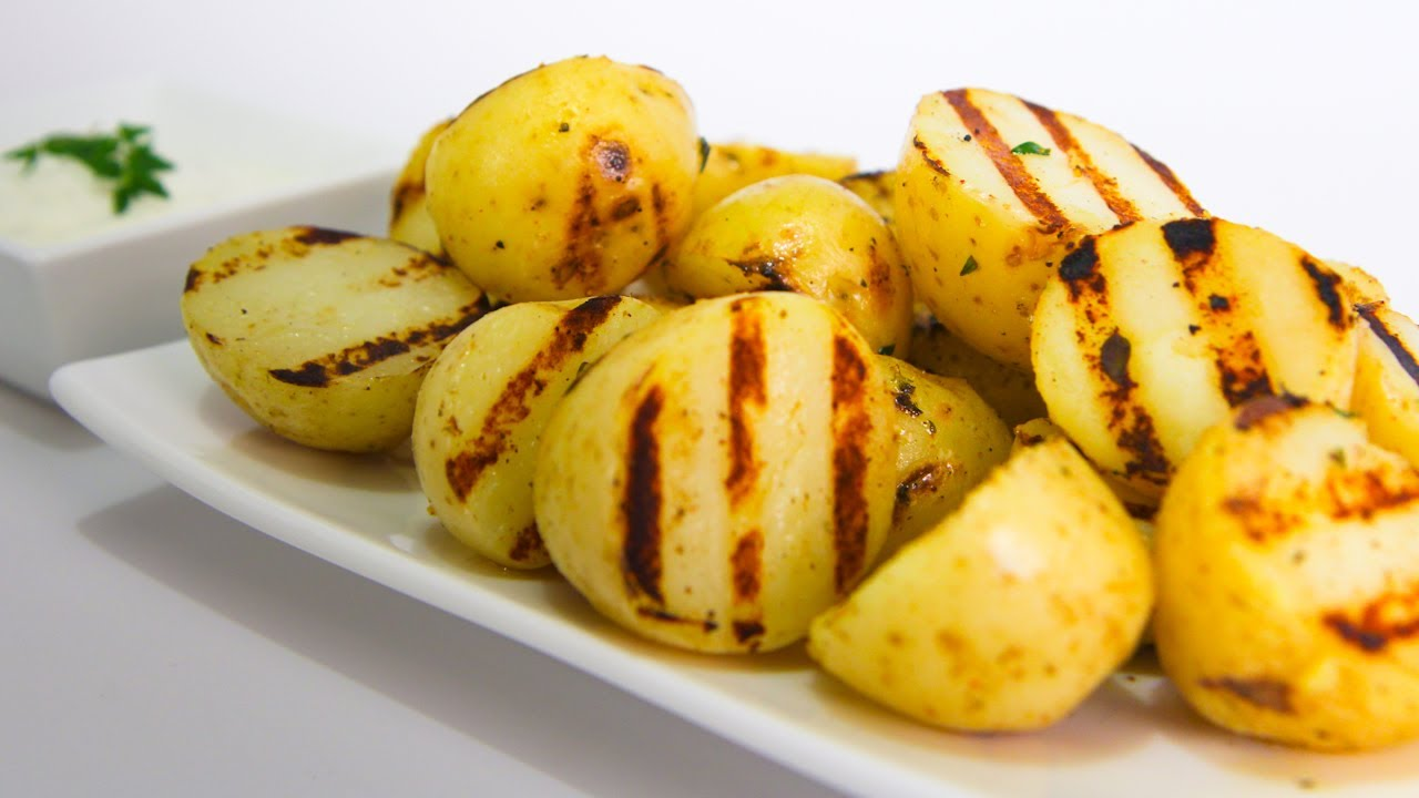 Lemon And Thyme Grilled Potatoes - Video Recipe - YouTube