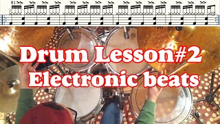 Drum lessons - Rhythms Collection (part#2) Electronic beats - Уроки на барабанах #2 - Drum method(Drum lessons - Rhythms Collection (part#2) Electronic beats - Уроки на барабанах #2 - Drum method https://youtu.be/NxDZaV3FXMM subscribe ..., 2016-03-21T17:59:09.000Z)