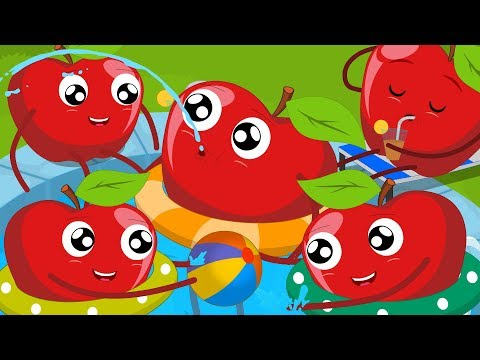 Five Red Apples Jumping On The Bed | Nursery Rhymes Songs For Kids And Children | Baby Rhymes