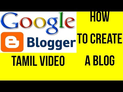 How to Easily create a blog in Tamil | Earn money from blog