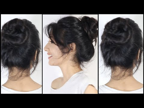 Amazing BUN Hairstyles For College & Work | Messy Bun Hairstyle | Updo Hairstyle thumbnail