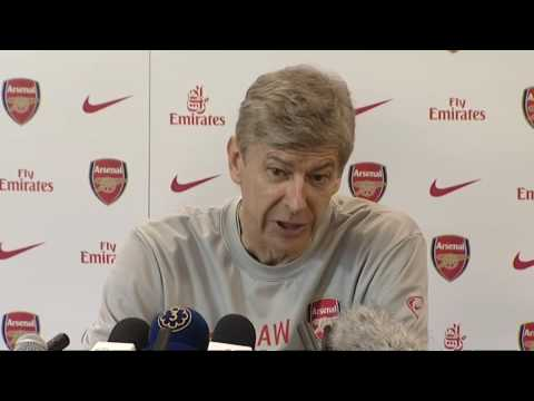 Arsene Wenger on the injuries to Van Persie and Gibbs