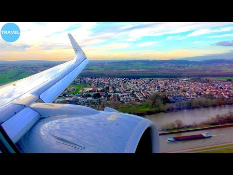 DELIVERY FLIGHT | Airbus A320neo Lufthansa Sunset Landing + Water Cannon in Frankfurt!