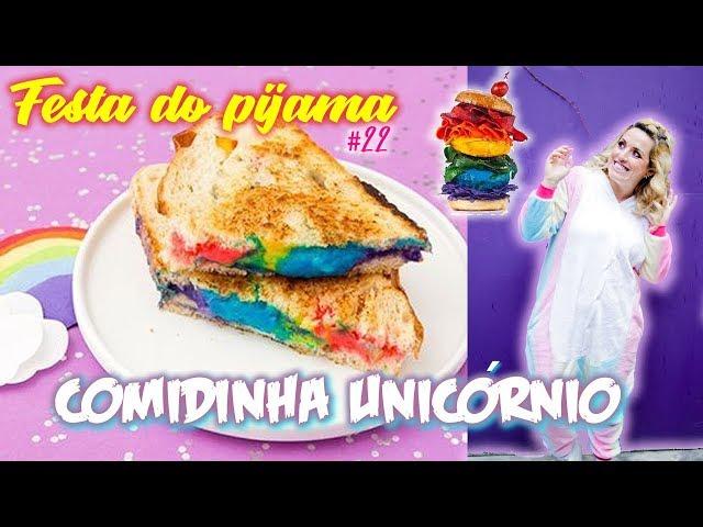 Idéia fácil e barata para sua festa do Pijama | Comida para festa Unicórnio #22