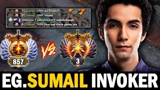IF YOU WONDERING HOW SUMAIL PLAY INVOKER, WATCH THIS!! INCREDIBLE INVOKER BY SUMAIL | Dota 2 Invoker