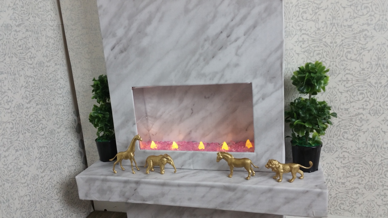 diy modern fireplace for american doll youtube
