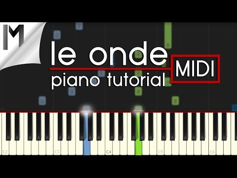 Le Onde ~ Ludovico Einaudi ~ Original Piano Tutorial [MIDI]