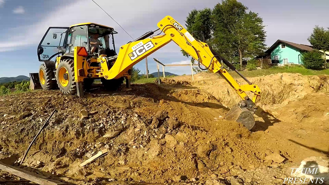 Jcb 4cx Backhoe Loader Basement Excavation You