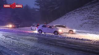 Yedikuyular'da kar nedeniyle onlarca araç yolda kaldı!