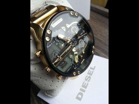ce3482ad34d Relógio Diesel Mr Daddy Gold DZ7333 - YouTube