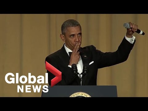 "Thumbnail: ""Obama out:"" President Barack Obama's hilarious final White House correspondents' dinner speech"