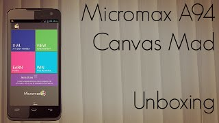 Micromax A94 Canvas Mad Unboxing - Earn Money with Phone Calls