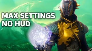 Destiny 2 PC Max Settings No HUD Gameplay