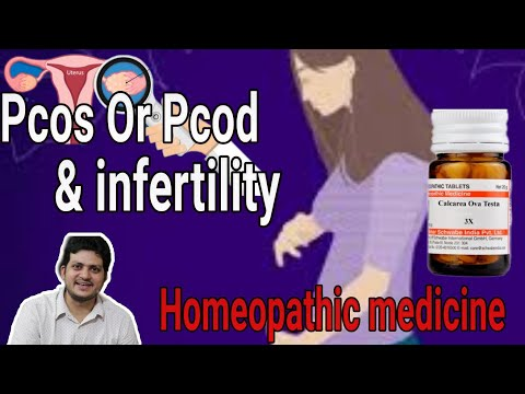 Homeopathic medicine for female infertility due to PCOS Or PCOD ?