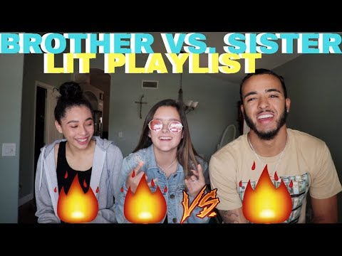 BROTHER VS. SISTER & BESTFRIEND LIT PLAYLIST CHALLENGE !!! 🔥🎵
