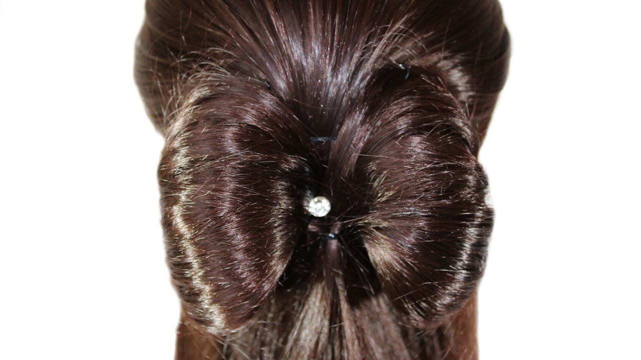 hairstyle bow♚a simple and very beautiful hairstyle for every day