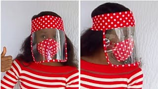 DIY Fabric-lined face shield // Glam face shield //plastic facemask // eye  Google facemask