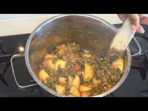""""""" Lobiye Ki Phaliyan """"  Bajias Cooking"""