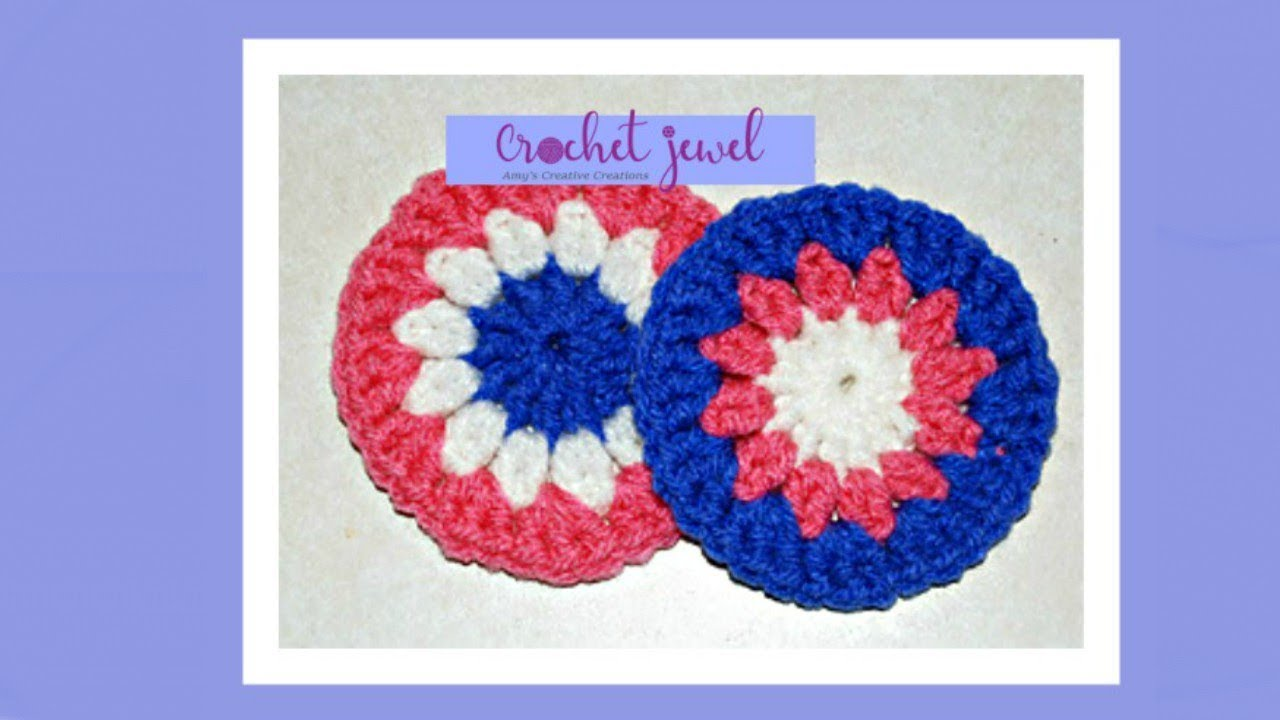 How to crochet a coaster crochet jewel youtube how to crochet a coaster crochet jewel bankloansurffo Images