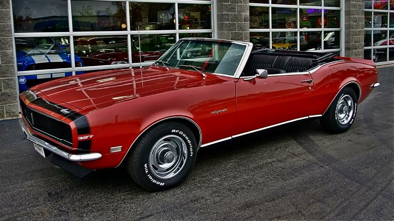 1968 Chevrolet Camaro Rs Convertible High Performance 327