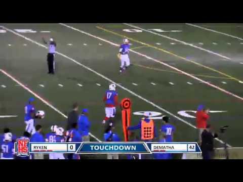 Dematha Catholic #5 Anthony McFarland with a 19 yard TD catch
