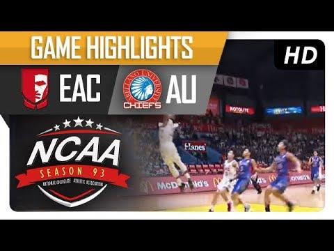 EAC vs. AU | NCAA 93 | MB Game Highlights | September 22, 2017