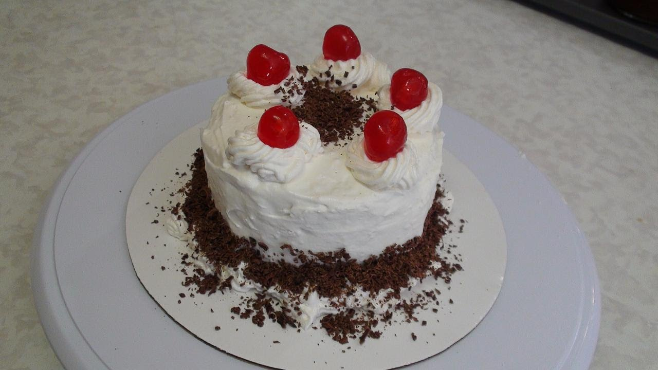 Cake Recipes In Otg Youtube: Eggless Black Forest Cake Recipe Video