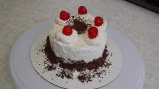 Eggless Black Forest Cake recipe video - Start to finish