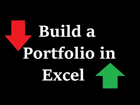 351-8 How to Build a Portfolio in Excel
