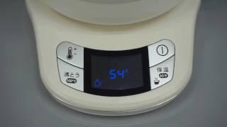 100℃に湯沸しする様子