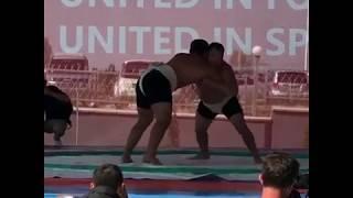 Сумо финал Всемирные игры кочевников-2018 в Киргизии World nomad games